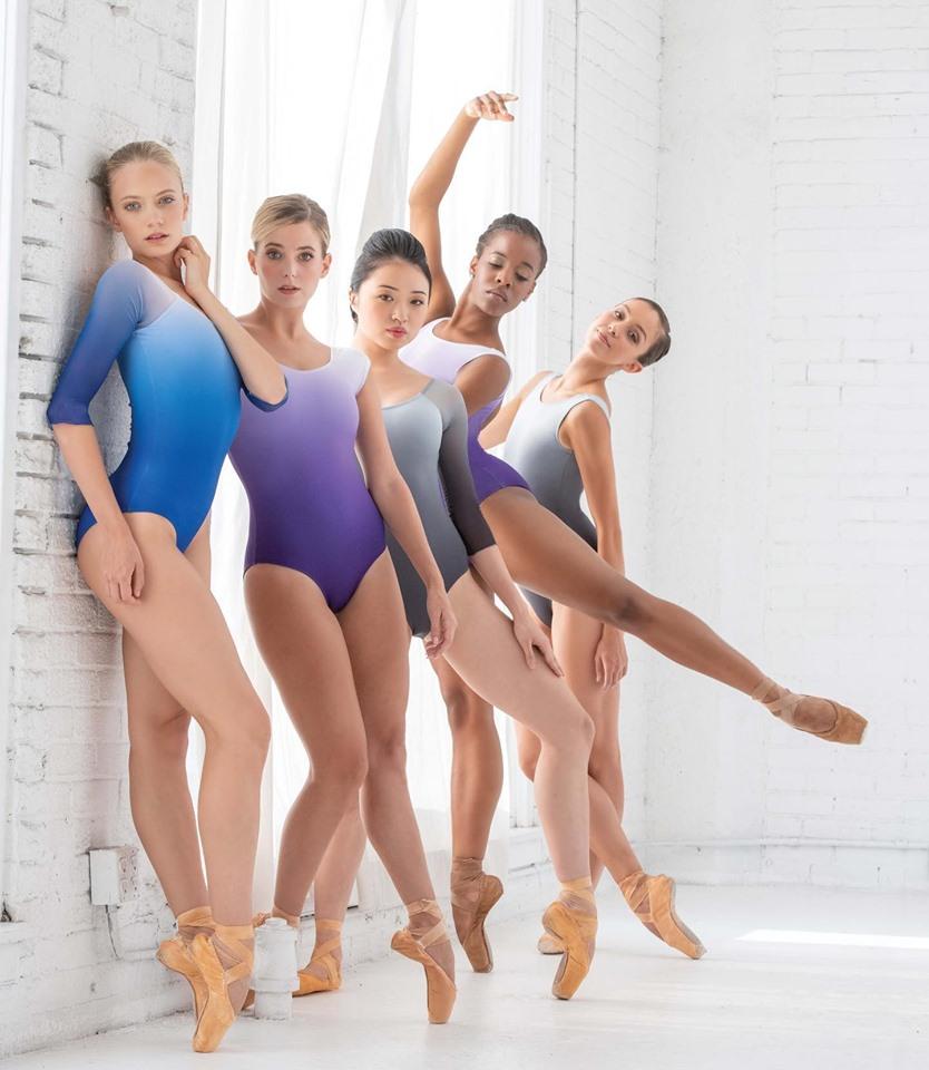 Ballet Rosa グラデーションキャップスリーブレオタード SOLANGE