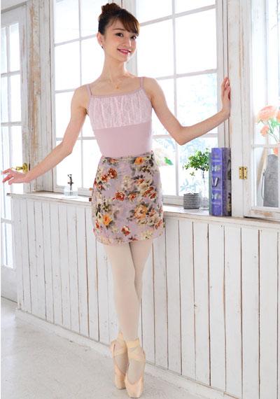 DD オリジナルフラワープリント巻きスカート
