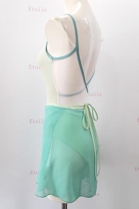 YUMIKO シフォンスカート PAT G-Sea/T-Pistachio ロング