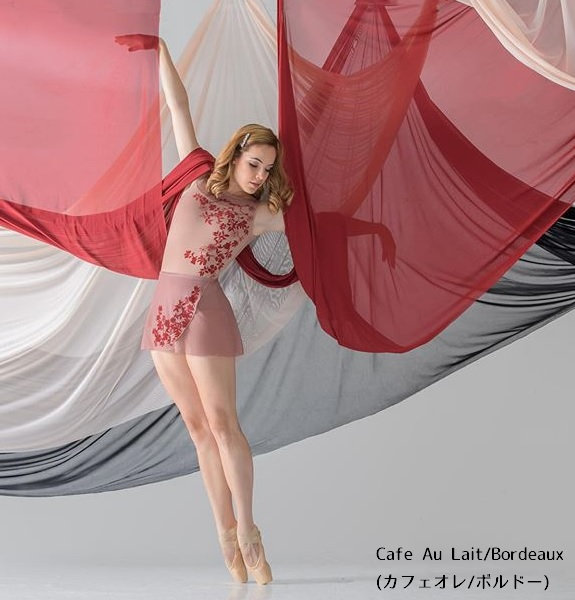 <お取り寄せ>BalletRosa フロッキーフラワータンクレオタード ADELE アデル