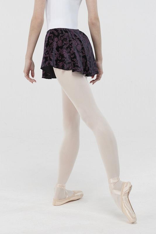 WEAR MOI ベルベットプリントプルオンスカート  BALANCE バランス
