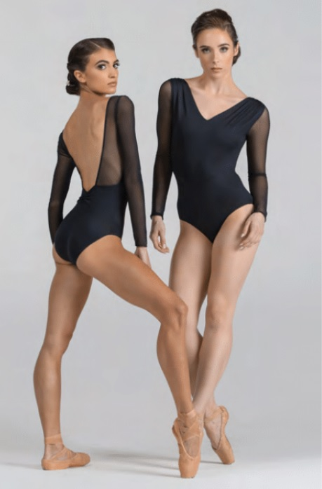 Ballet Rosa メッシュロングスリーブレオタード SHIRLEY