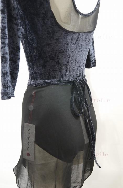 YUMIKO シフォンスカート PAT G-Black/V-Black ロング