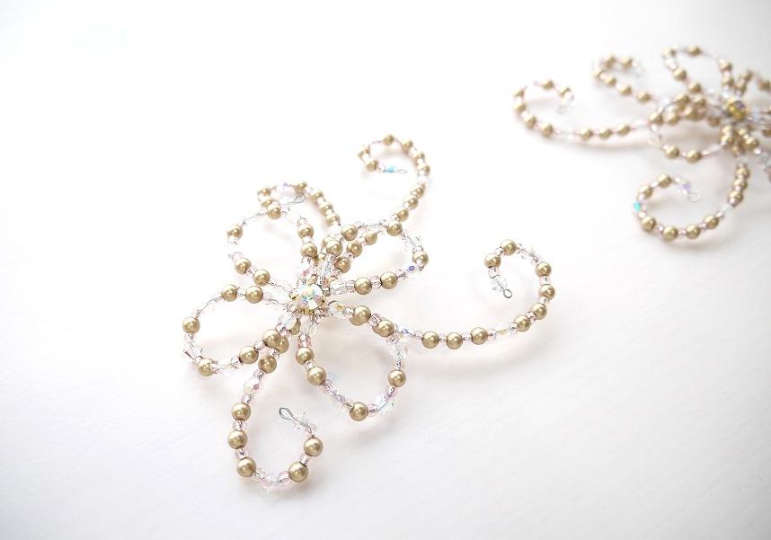 オーダー製作〜Ballet Tiara Lotus〜 お花のサイドパーツ【2個セット】