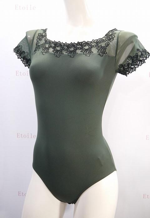 【特注/お取り寄せ】Ballet Rosa 刺繍キャップスリーブレオタード AURORA