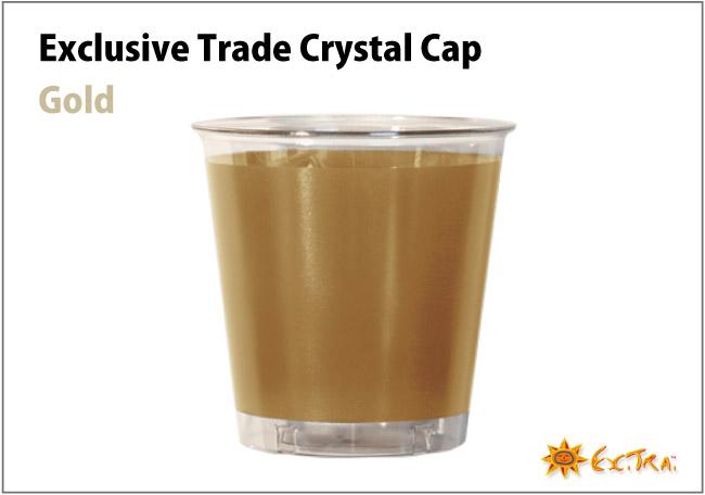 イタリア製 おしゃれなプラスチックコップ 10個入り 300ml Exclusive Trade Gold