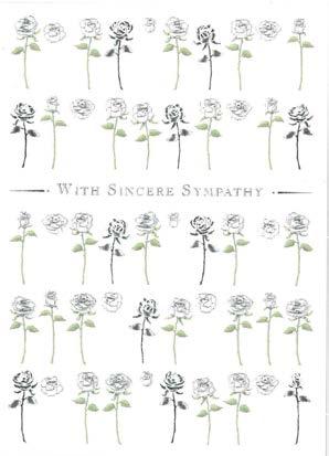【お悔みカード】オランダ製Quire(クワイヤー)IVORY WHITE SYMPATHY/シルバーローズ