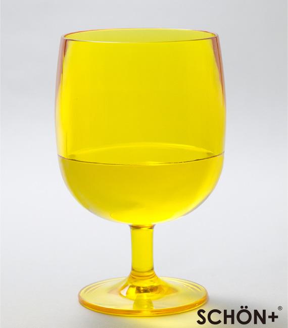 【40%OFF】スタッキングができる脚付きタンブラー グラス イエロー 350ml SCHON+(シェーンプラス)