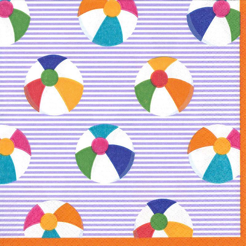 【ボール・ブルー・パーティー】ドイツ製 Caspari ペーパーナプキン/Bounce-Blue【Lサイズ 20枚入り】