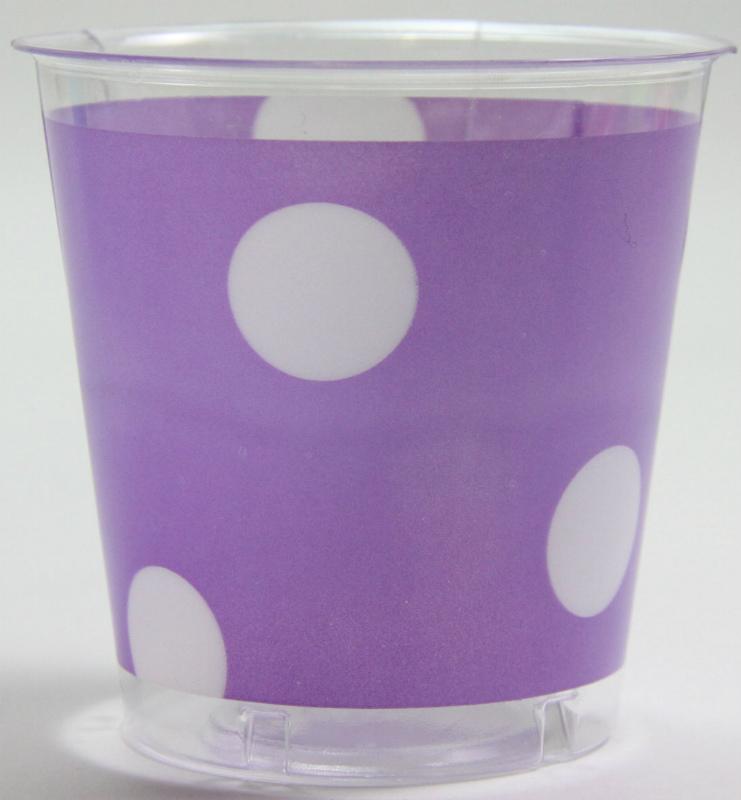 イタリア製 おしゃれなプラスチックコップ Exclusive Trade/Pois Lila 10個入り 300ml