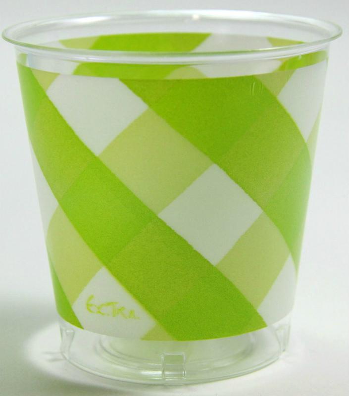 イタリア製 おしゃれなプラスチックコップ Exclusive Trade/Vicky Lime Green 10個入り 300ml