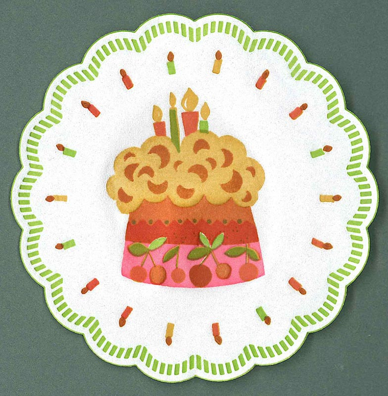 【12枚入り・パーティー・紙コースター】ドイツ製 Capsari プチマット(バースデー ケーキ)