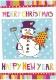 【クリスマスカード】オランダ製Quire(クワイヤー)グリーティングカード/スノーマン