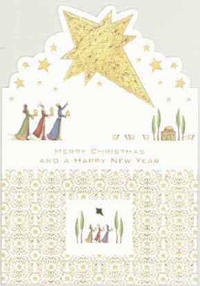 【クリスマスカード】オランダ製Quire(クワイヤー)グリーティングカード/3聖人 星