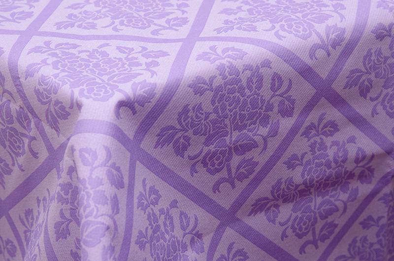 【テーブルクロス 不織布 パープル 紫】SCHÖN+ ドイツ製 テーブルクロス ダマスク柄 不織布(紙製) Lila 120×220cm