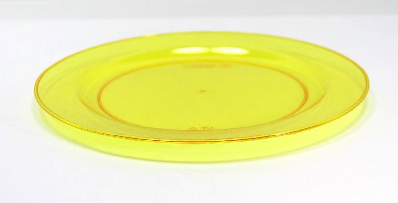カラフルなプラスチックプレート Mozaik ラウンド プレート 19cm 10枚入り【イエロー】