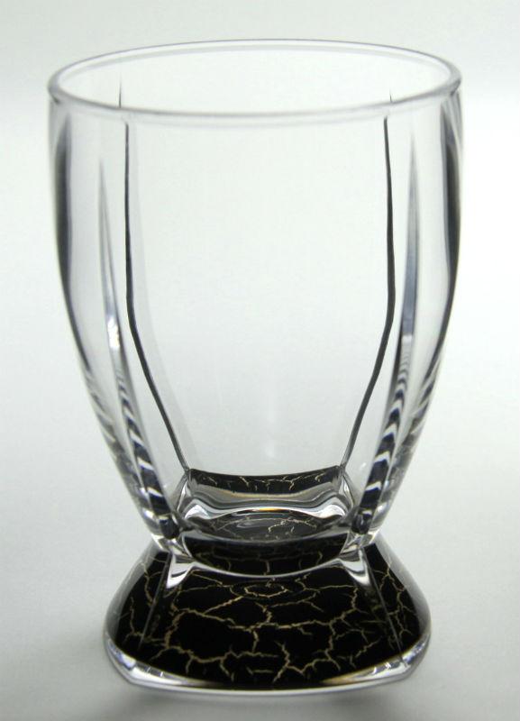 軽量&割れにくいロックグラス MS タンブラー ゴールド・ブラック 400ml