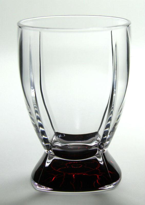 軽量&割れにくいロックグラス MS タンブラー レッド・ブラック 400ml
