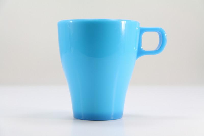 電子レンジOK!割れにくいカラフルなマグカップ 300ml Mozaik Rynoware Mug【ブルー】(アウトドア・子供・入院食器)