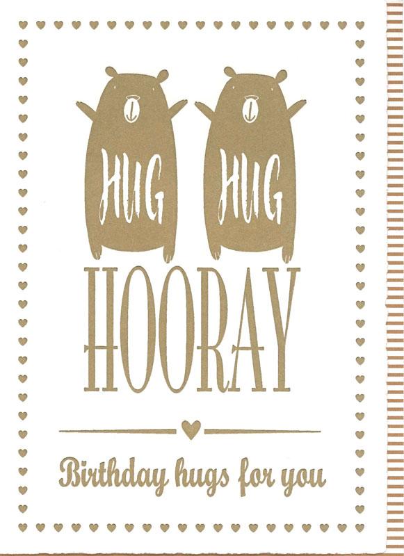 【バースデーカード Hug Hug Hooray】オランダ製Quire(クワイヤー)/Impressive(Hooray)