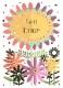 【バースデーカード  花】オランダ製Quire(クワイヤー)グリーディングカード/COLOURROUND(フラワーズ)