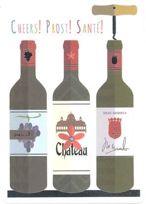 【多目的 ワイン 乾杯】オランダ製Quire(クワイヤー)グリーディングカード/COLOURROUND(Cheers!)