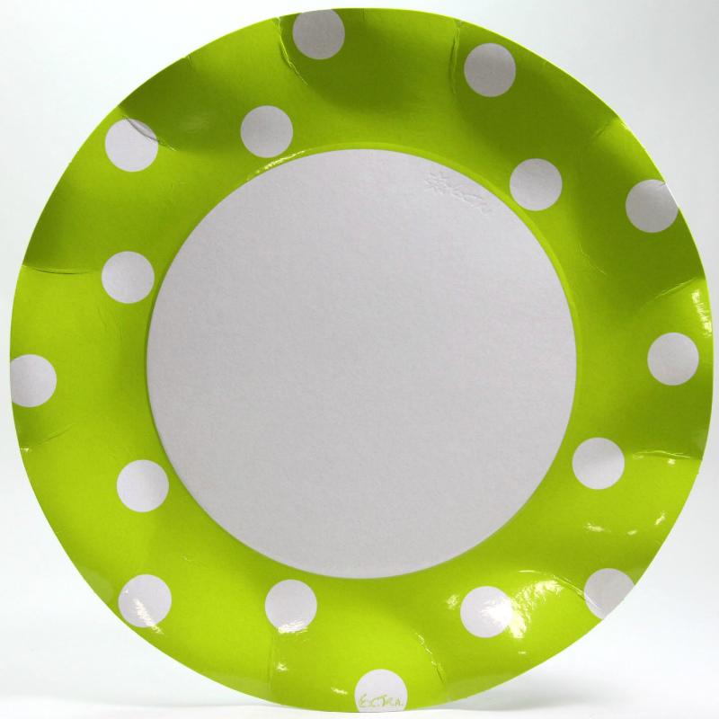 イタリア製 紙皿(ペーパープレート) Exclusive Trade/Polis Lime 26.5cm 10枚入り