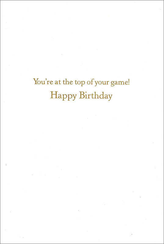 【バースデーカード テニス ブルー】アメリカ Caspari社 グリーディングカード/Happy Birthday Tennis Blue Embossed