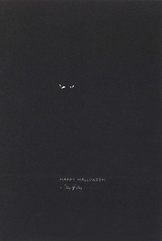 【ハロウィンカード クモ】高品質 Caspari製 グリーディングカード By Masaki Ryo 定型外サイズ