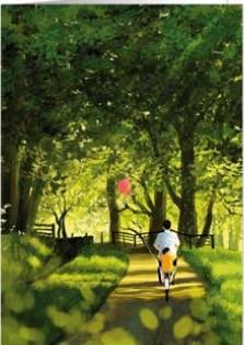 【多目的】 オランダ製 Quire(クワイヤー) グリーディングカード Mac Classic Heartfelt/自転車さんぽ