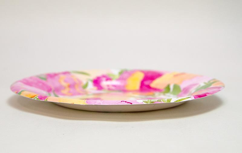 【紙皿 ペーパープレート 花柄 牡丹 ピンク】Caspar サラダ デザート ペーパープレート 8枚入り Peonies柄【パーティー イベント バースデー ピクニック 行楽】