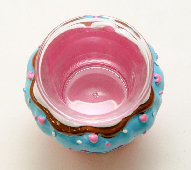 【キャンドルホルダー カップケーキ】ティーライト キャンドル ホルダー【ピンク×ブルー】