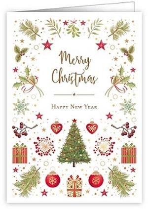 【クリスマスカード】オランダ製Quire(クワイヤー)グリーティングカード/クリスマスアイコン