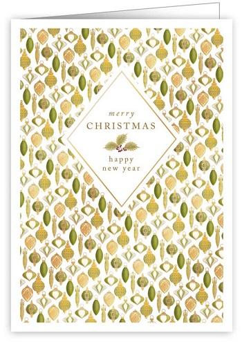 【クリスマスカード】オランダ製Quire(クワイヤー)グリーティングカード/バブルパターン
