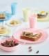 かわいいプラスチック製カップ マカロンカラータンブラー290ml【12個入り】Mozaik(モザイク)