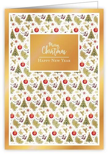 【クリスマスカード】オランダ製Quire(クワイヤー)グリーティングカード/クリスマスアイコン パターン