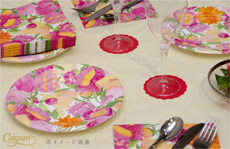 【紙皿 ペーパープレート スイカ 夏】Caspar サラダ デザート ペーパープレート 8枚入り Slice Salad柄【パーティー イベント バースデー ピクニック 行楽】