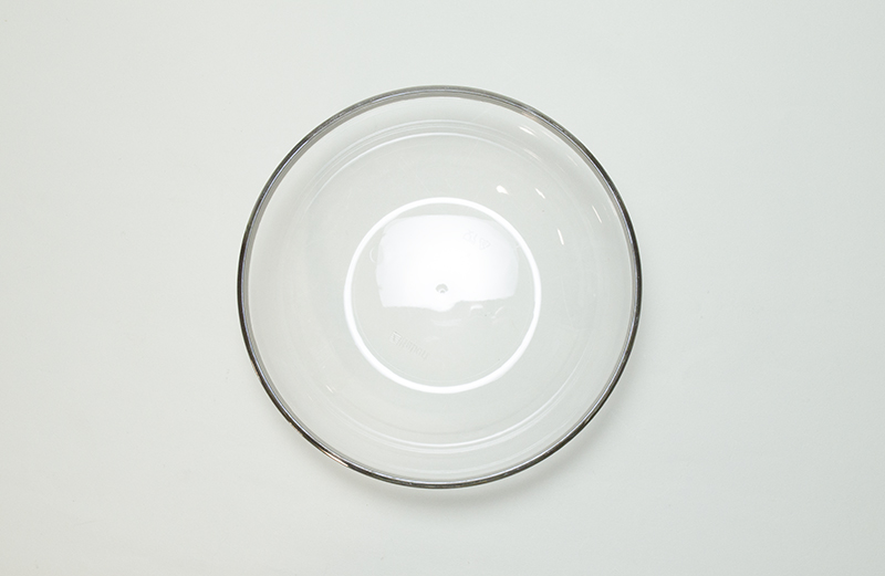 おしゃれな プラスチック製 使い捨て スモール ボウル シルバー リム 14cm【4個入り】Mozaik Classic