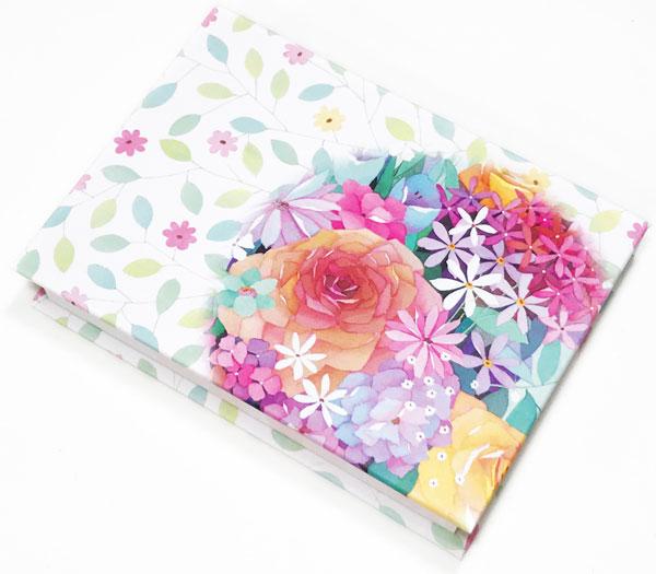 【メモ ノート 付箋 花柄 プレゼント】Jiun Wey スティッキーメモ/FLOWER【文房具 ステーショナリー】