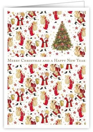 【クリスマスカード】オランダ製Quire(クワイヤー)グリーティングカード/サンタ