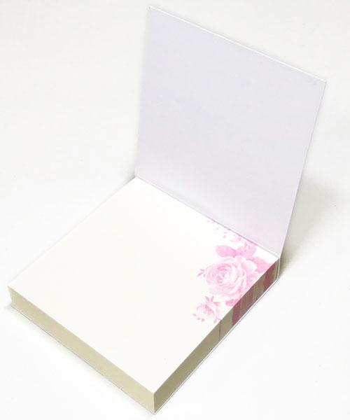 【メモ ノート 付箋 花柄 プレゼント】Jiun Wey スティッキーミニメモパッド/Rose【文房具 ステーショナリー】