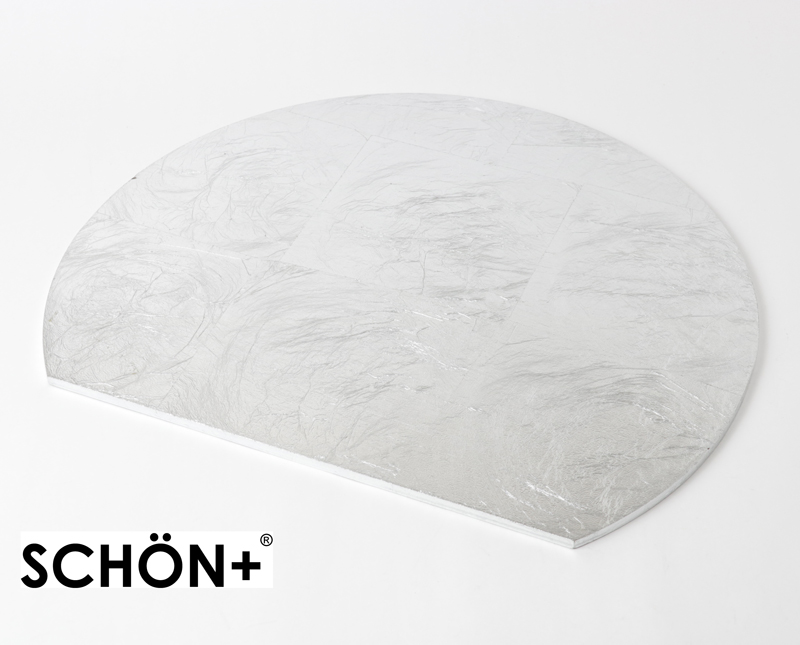 MDFプレースマット リバーシブル シルバー/ブラック36×30cm SCHON+(シェーンプラス)