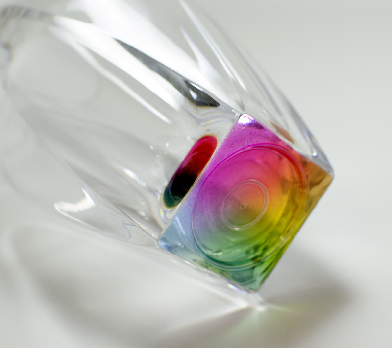 カラフルなグラス♪割れにくい MS レインボーグラス ハイボール タンブラー410ml