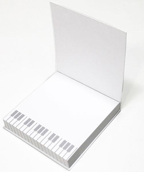 【メモ ノート 音楽 ピアノ ネコ プレゼント】Jiun Wey ミュージックミニメモパッド/Pink【文房具 ステーショナリー】