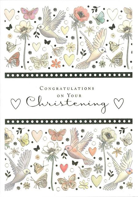 【洗礼 グリーティングカード】オランダ製Quire(クワイヤー)Mac Classic クリスチャン/Christening ハト
