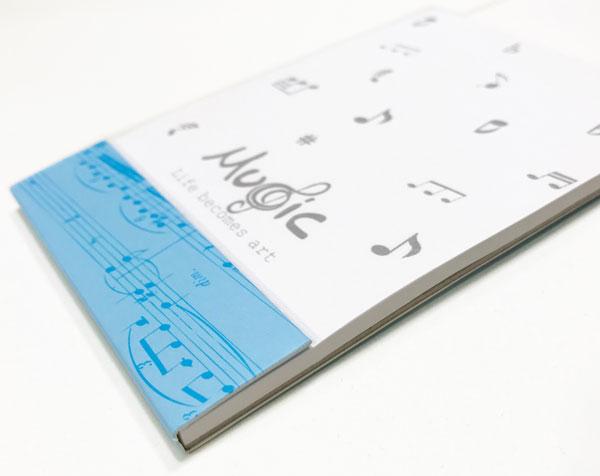 【メモ ノート 音楽 ピアノ ネコ プレゼント】Jiun Wey ミュージックメモパッド/Blue【文房具 ステーショナリー】