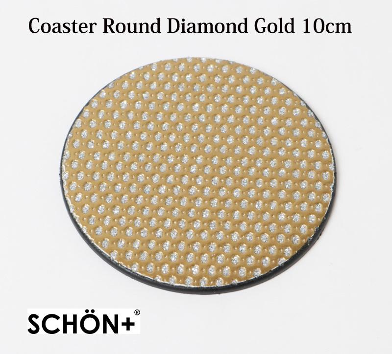 【コースター  ダイヤモンド  パーティー】シェーンプラス  ダイヤモンドゴールドコースター10cm