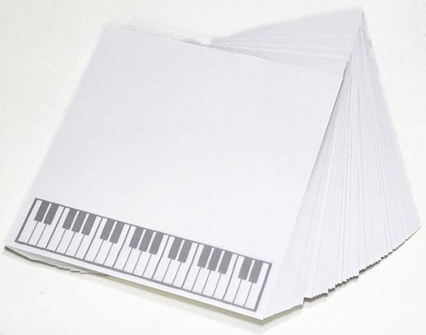 【メモ ノート 音楽 ピアノ ネコ プレゼント】Jiun Wey ミュージックプラスチックメモボックス/Yellow【文房具 ステーショナリー】