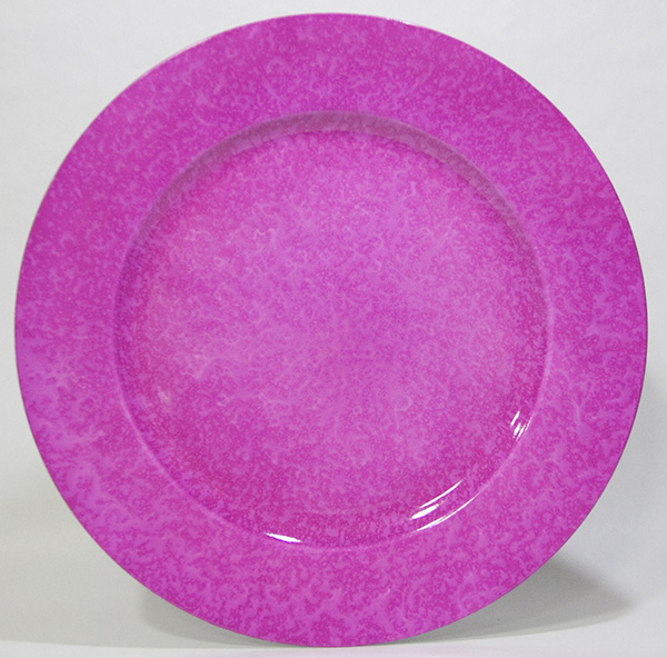 チャージャープレート(アンダープレート)クラシック ピンク 丸型 SCHON+ホームパーティー  x4枚