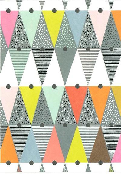 【ミニサイズ 多目的  オランダ製】Quire(クワイヤー) グリーディングカード PRETTY IN PRINT Mini 6.5×8.9cm (トライアングル)